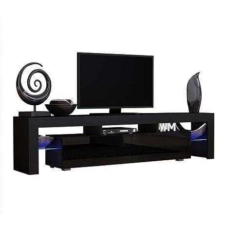 Amazon.com: Mueble de TV con 200 modernos LED para TV o ...