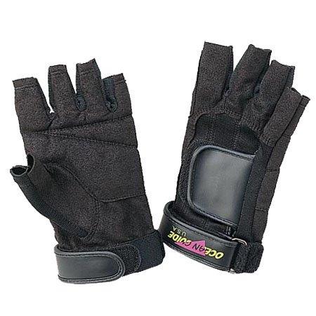 水Proダイビングシュノーケリングスポーツ指なし手袋 B003HI2SMA Large|ブラック ブラック Large