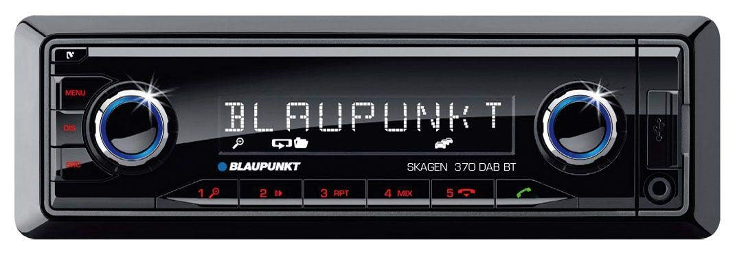 caraudio24 Blaupunkt Skagen 370 DAB BT USB SD DAB MP3 Bluetooth Autoradio f/ür Smart ForTwo 450 grau ohne Metallschacht