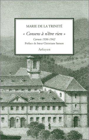 Download Consens a n'être rien : Carnets, 1936-1942 ebook