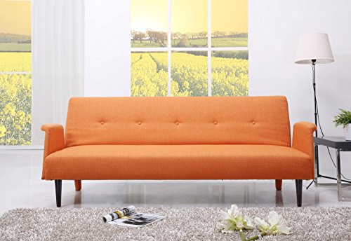 Gold Sparrow Westminster Convertible Sofa Bed, Orange