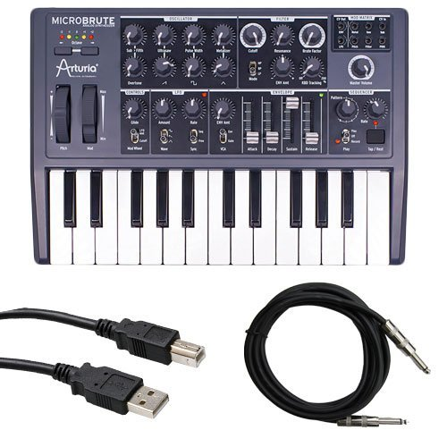 Price comparison product image Arturia Microbrute with Instrument Cable and USB Cable Bundle