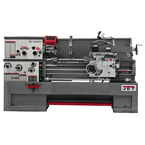JET GH-1640ZX Lathe with NEWALL DP700L DRO Installed