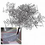 Delaman 0.6mm Auto Bumper Repair Pre Cut Welding Staples Repair Tool Kit 100pcs (Color : Wave Style)