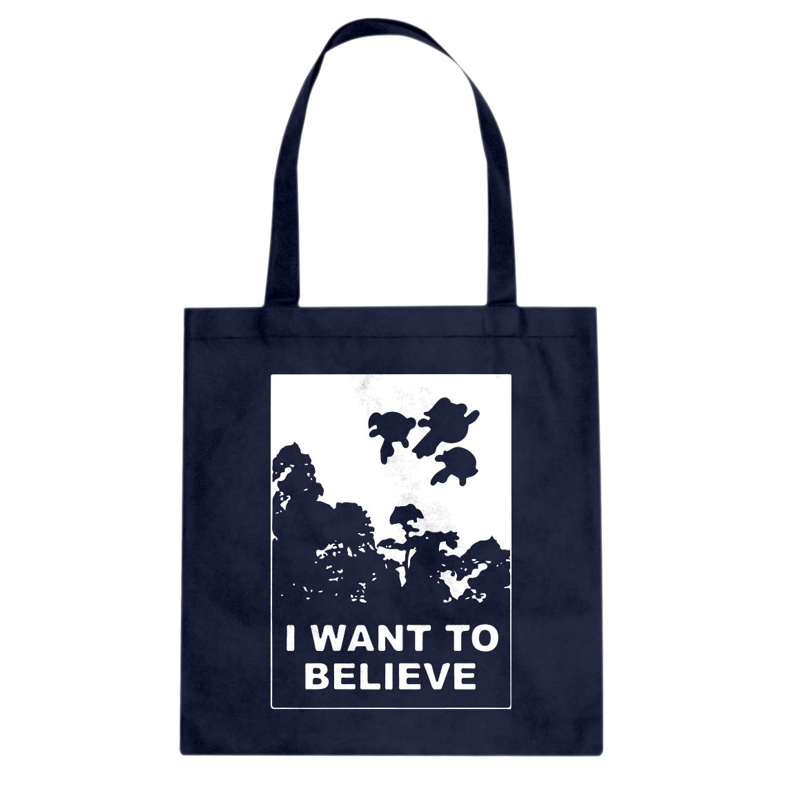 Indica Plateau I Want to Believe Super Girls Cotton Canvas Tote Bag
