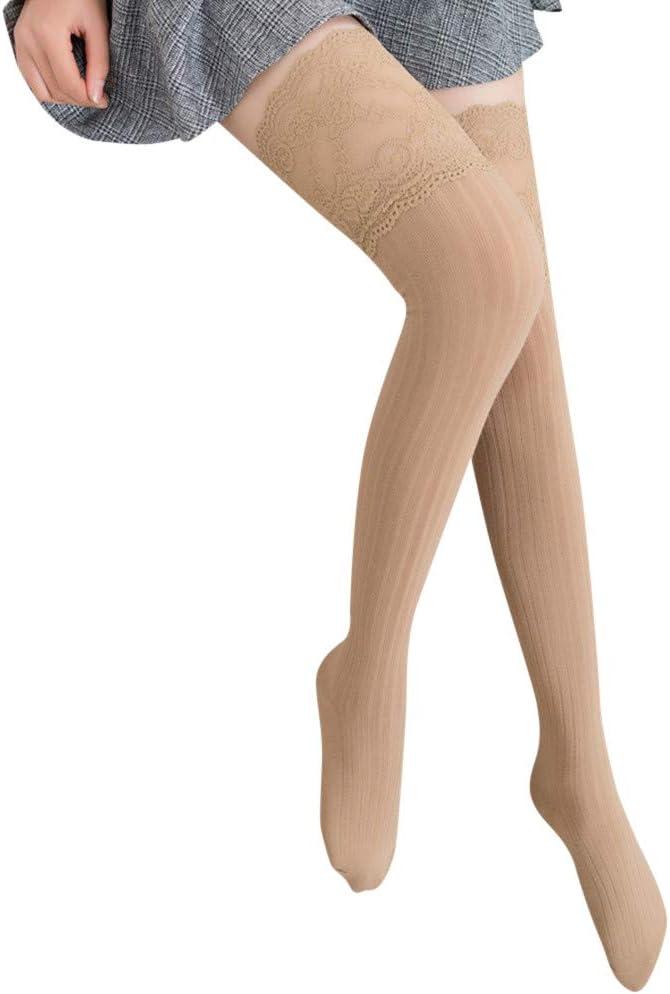 Tosonse Calcetines De Encaje De Mujer Medias Altas Hasta La Rodilla Calcetines Negros Calcetines Medias De Compresión Largas Calcetines De Algodón Cálidos Para Mujer Medias: Amazon.es: Ropa y accesorios