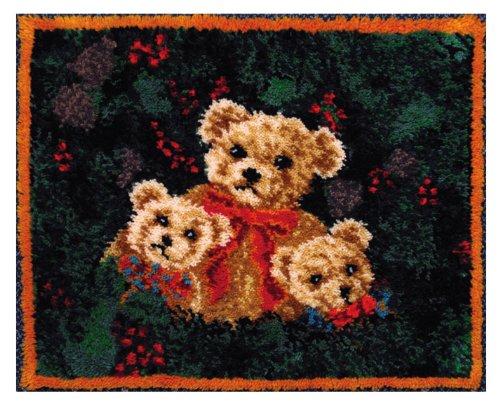 MCG Textiles 37720 3 Bears Latch Hook Rug Kit (3 Latch Hook Rug)