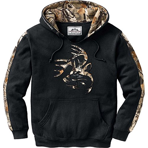Legendary Whitetails Mens Outfitter Hoodie Onyx Large