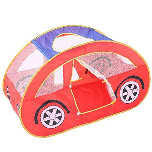 積極的に無運命的なLIAN 子供の遊びテント楽しいゲーム折り畳まれた城のベイビーオーシャンボールプール赤い車のおもちゃの家(51.2 * 27.6 * 31.5インチのパッキング1)