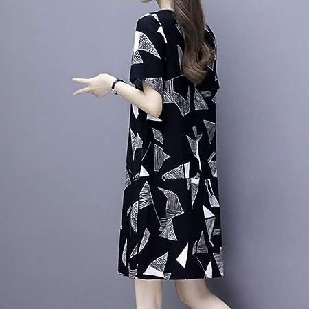 Vestidos Cotos Negro ღSUNNSEANღ Vestido Moda de Manga Corta Estampado Casual Vestidos Faldas Traje de Vestir Playeras Mujer Chica Vestidos Verano (XXXL, Negro): Amazon.es: Instrumentos musicales