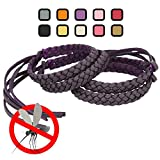 Original Kinven Mosquito Insect Repellent Bracelet Waterproof Natural DEET FREE Insect Repellent Bands, Anti Mosquito Protection Outdoor & Indoor, Adults & Kids, 4 bracelets, in Purple