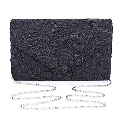 Chichitop Women's Elegant Floral Lace Envelope Clutch Evening Prom Handbag Purse