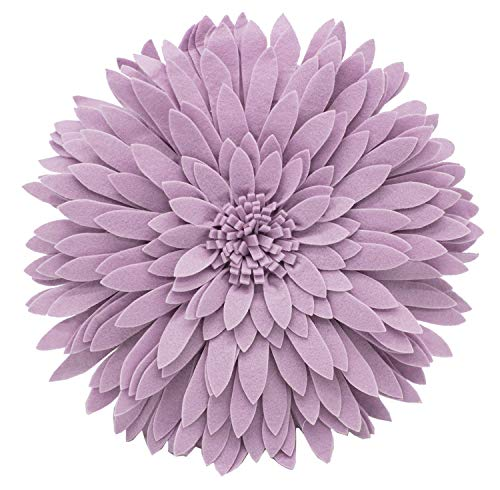 Fennco Styles Elegant 3D Sunflower Throw Pillow Case - Round 16