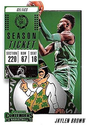 2018-19 Panini Contenders Season Ticket  42 Jaylen Brown Boston Celtics NBA  Basketball Trading 81ab8b8ca
