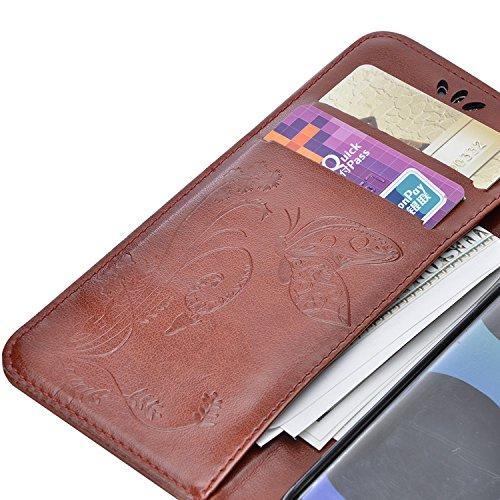 Funda Samsung Galaxy S8 Plus, Vandot Premium PU Cuero Pintado Patron Funda para Samsung Galaxy S8 Plus TPU Interior Bumper Shell Billetera Caja de Teléfono con 9 Ranuras Tarjetas, Correa para la muñec HD02YH 08