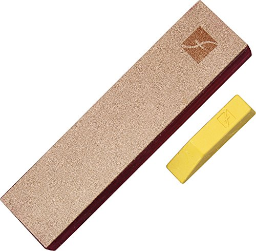 Price comparison product image Flexcut PW14 Knife Strop,  with 1 Ounce Bar of Flexcut Gold Polishing Compound,  8 X 2 Inch Leather Surface