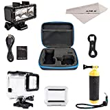 ADIKA Underwater Dive Kit for GoPro Hero 5 - ( 40m Waterproof Gopro Lights + GoPro Floating Handle Hand Grip Monopod + 40m Clear for GoPro Waterproof Case Housing for Gopro Hero 5 Waterproof Housing )