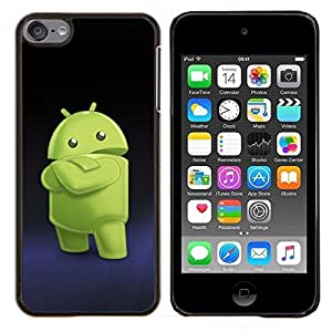 Cubierta protectora del caso de Shell Plástico    Apple iPod Touch 6 6th Touch6    Smartphone extranjero verde @XPTECH