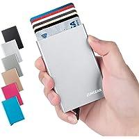LunGear Porta Carta di Credito RFID Blocco,Porta Tessere in Alluminio Carte di Credito Detiene 7 Carte