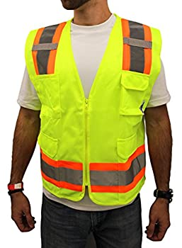 High Visibility Surveyor Safety Shirt Reflective NEW D01M16 YELLOW Small