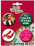 "Ata-Boy Wizard of Oz Dorothy Set of 4 1.25"" Collectible Buttons"