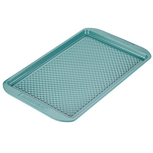 Farberware 46328 Hybrid Ceramic Bakeware Baking Sheet, 11-in x 17-in, Aqua