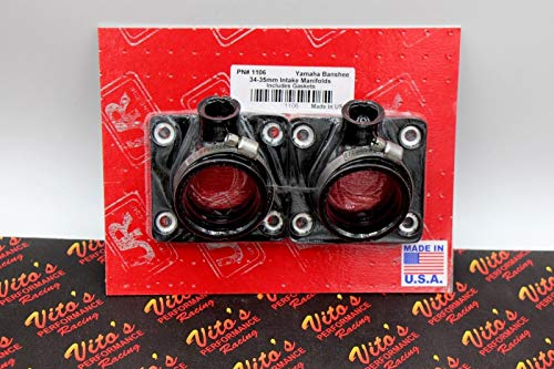 (Vito's Performance New Banshee UPP carb Boots Oversize 35mm 34mm 33mm Intake - with Boost Bottle)