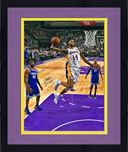 Framed Brandon Ingram Los Angeles Lakers Autographed 16