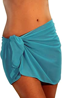 product image for Lifestyles Direct Tan Through Aqua Solid Color Sarong