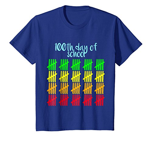Kids 100th Day of School T-Shirt Happy 100th Day of School Tee 6 Royal Blue for $<!--$16.95-->