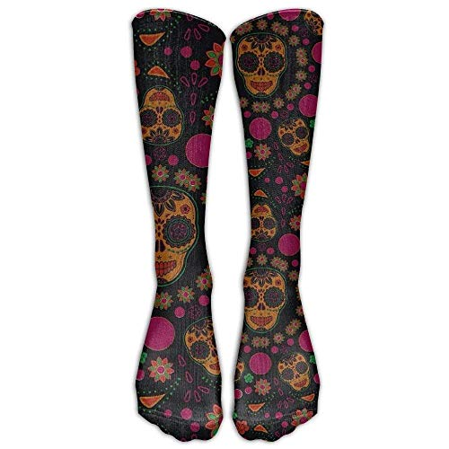 NEW DaSOC Sugar Skull Unisex Novelty Knee High Socks Athletic Tube Stockings One Size by X-Large (Image #1)