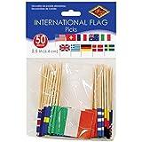 Piques à picorer drapeaux internationaux- Pack de 50