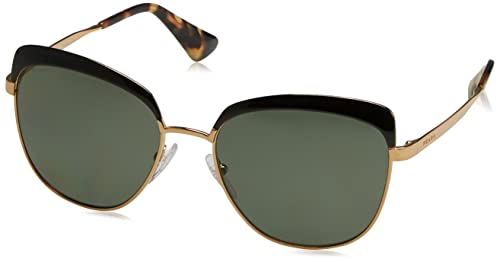 Prada 51TS LAX5X1, Gafas de Sol Unisex-Adulto, Antique Gold/Black, 56