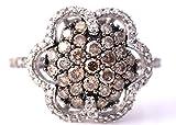 levian ring chocolate diamonds - LeVian Chocolate and White Diamonds Flower Ring 1.10 ct 14k White Gold Size 7