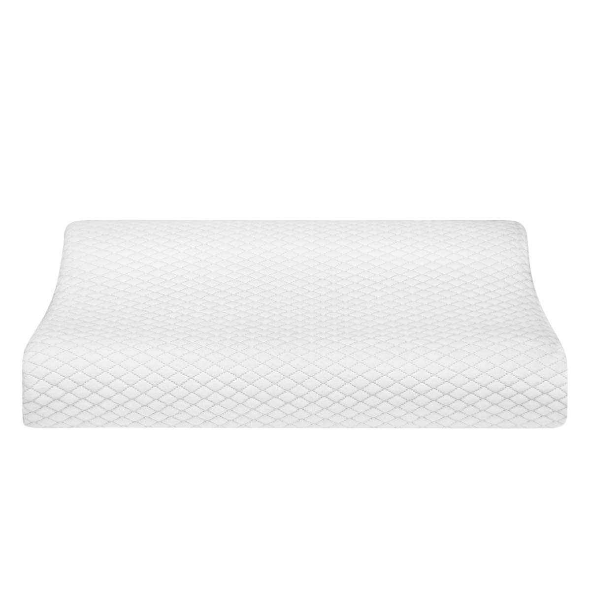 HOMEIDEAS Contour Memory Foam Pillows - Cervical Pillow, Chiropractic Pillows - Orthopedic Neck Pillow for Neck Pain, Stomach, Side Sleepers