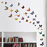 42 DIY Colourful Butterflies Home Removable Decor Wall Stickers Kids Room Art Decal