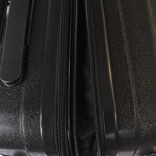 Bravo Infinity Hardside Spinner Luggage 22 Inch Black Carry On Expandable Luggage With TSA Lock by Xena (Image #5)