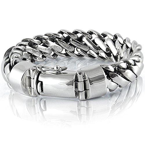 925 Sterling Silver Heavy Round Snake Men Bracelet - Made in Thailand - 10 (Small Snake Bracelet)