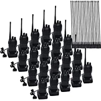 BaoFeng Pack of 20 BF-888S 5W 400-470MHz Handheld Walkie Talkie US Standard Black + 38.5CM 144/430MHz SMA-Female Antenna