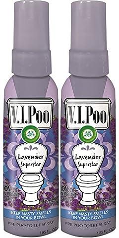 Air Wick V.I.Poo Toilet Perfume Spray, Lavender Superstar, 2ct (2X1.85oz) - Health Star