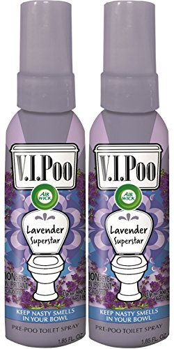 Price comparison product image Air Wick V.I.Poo Toilet Perfume Spray, Lavender Superstar, 2ct (2X1.85oz)