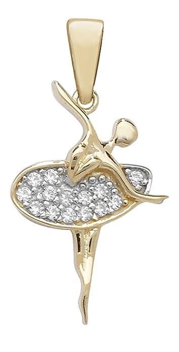 fb3e8b0263 Da uomo In oro giallo 9 K con zirconia cubica ballerina ciondolo su una  collana barbazzale, oro giallo, colore: Gold, cod. 3903-GM16: Amazon.it:  Gioielli