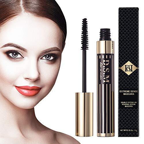 Double Extension & Waterproof Mascara, Nature Thick and Lengthening Mascara, Long Lasting, No Flake, Smudge-proof, Clump-free, Black Mascara, 0.35 fl oz