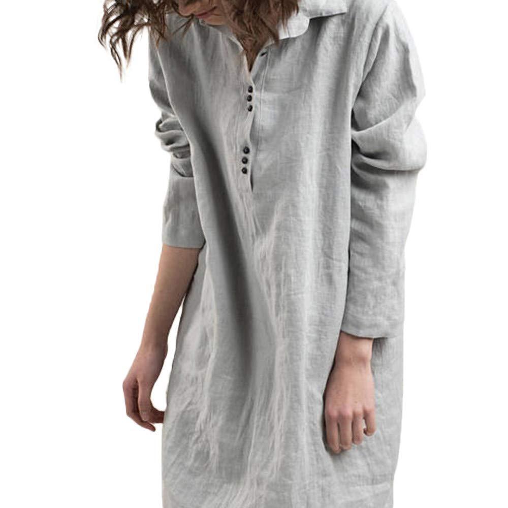 AMSKY DRESS レディース Medium グレー B07H4T5N17