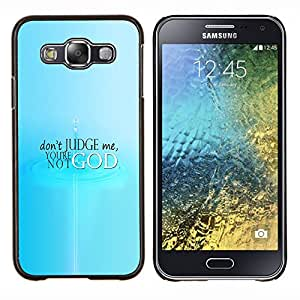 Jordan Colourful Shop - Don't Judge For Samsung Galaxy E5 E500 Personalizado negro cubierta de la caja de pl????stico