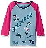 Tommy Hilfiger Big Girls' Love Always Tee, Heathered Rain, Medium