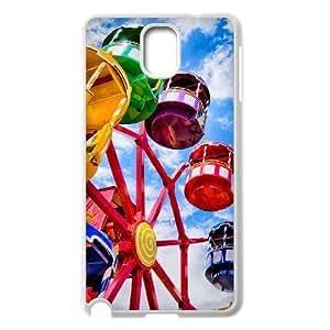 Diy The Ferris Wheel Phone Case for samsung galaxy note 3 White Shell Phone JFLIFE(TM) [Pattern-1] Kimberly Kurzendoerfer