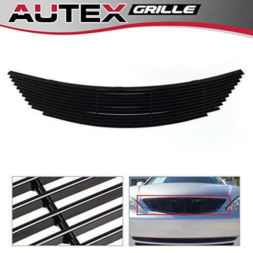 AUTEX Main Upper Billet Grille Inserts Compatible with Toyota Camry 2002 2003 2004 2005 Grill Horizontal Billet T85380H