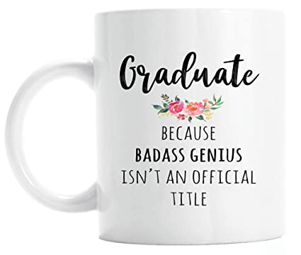 Amazon Funny Graduation Gift Graduate Genius Mug For Her