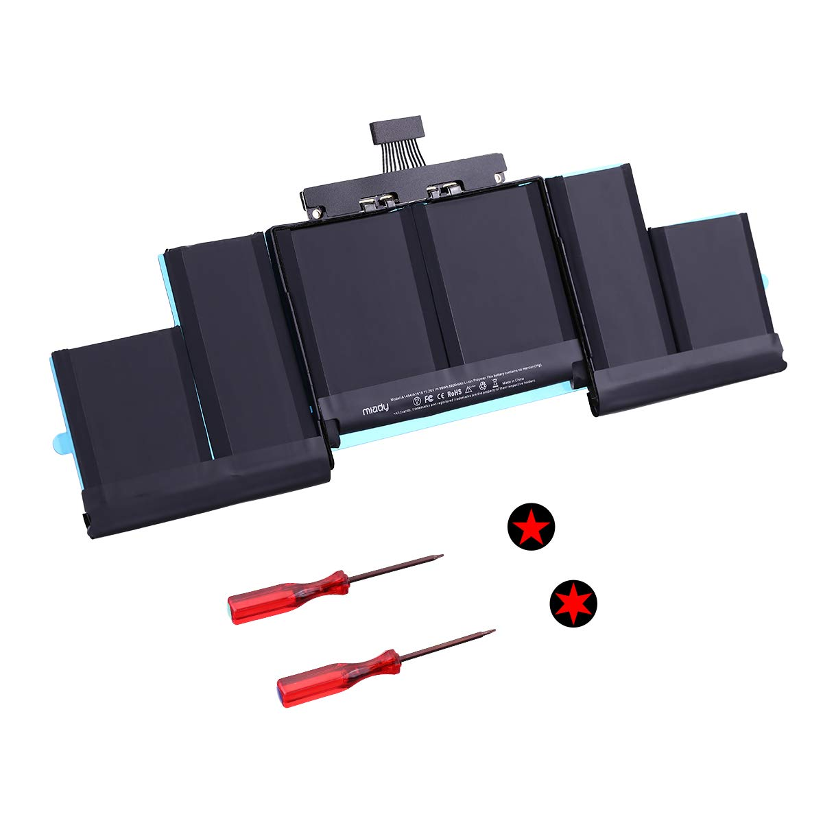 ME293 ME294 MGXA2 MGXC2 MJLQ2 MJLT2 MJLU2 Late 2013 Mid 2014 2015 A1494 A1618 New Replacement Battery Compatible with MacBook Pro15 Inch Retina A1398